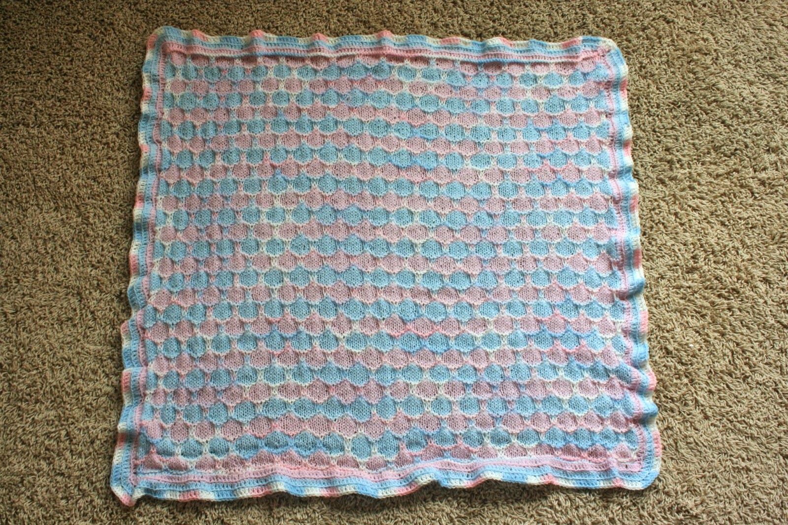 More Hours Per Day: Honeycomb Baby Blanket