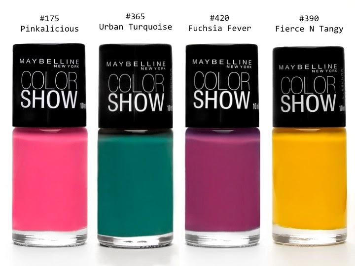 ColorShow de Maybelline, una paleta vibrante de colores para elegir ...