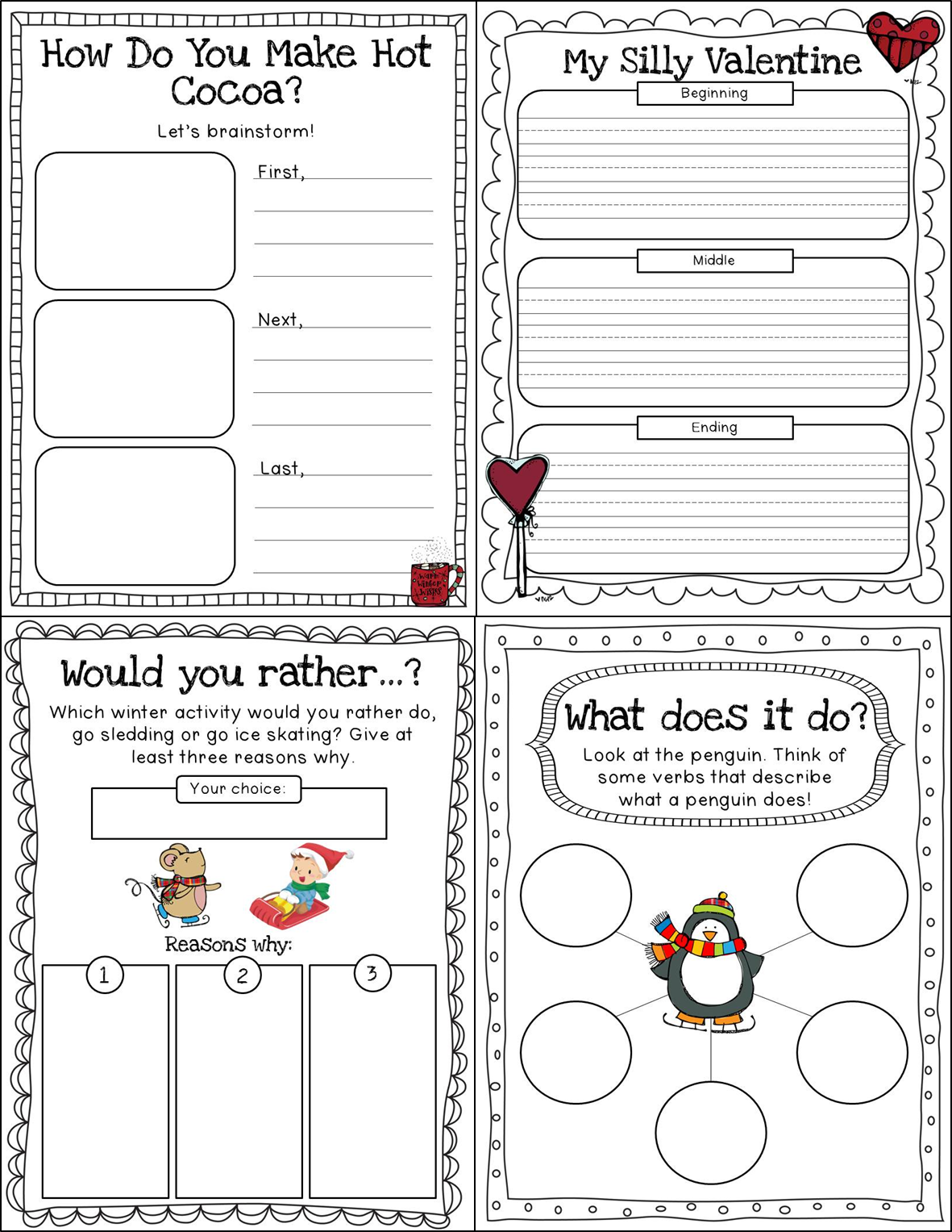 Fall Worksheet Packet for Preschool-First Grade