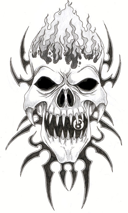 world of tattoos  skull