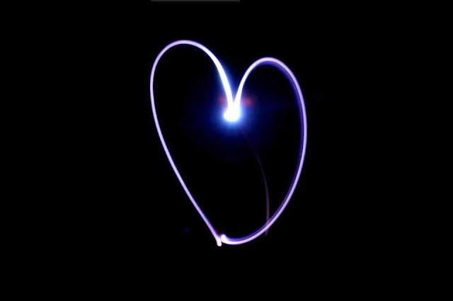 Cool heart design love dark background image