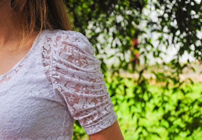 blusa de renda branca