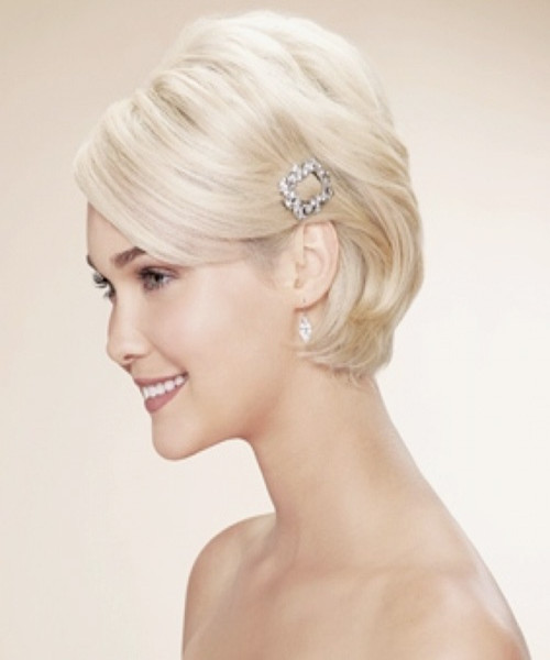 Wedding Hairstyles for Short Hair ----- Short Hair Also Highlights ...