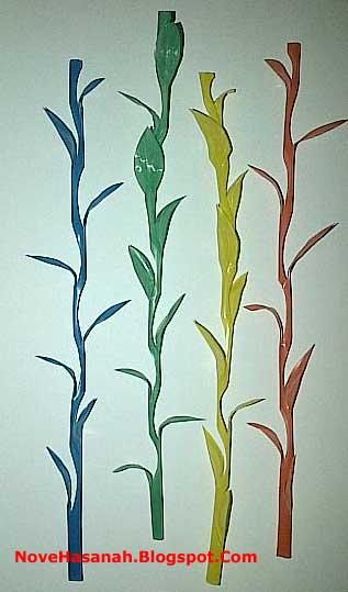 cara membuat kerajinan tangan bunga rumput dari sedotan plastik