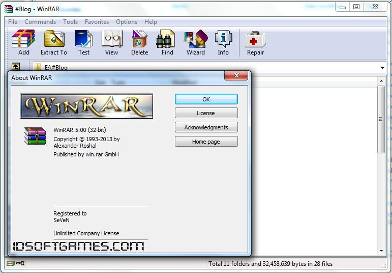 WinRAR 5.00 Screenshot