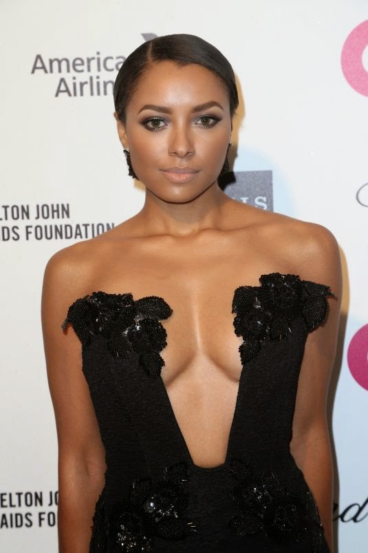 Actress, Singer @ Kat Graham - Lingerie elton john aids foundation oscar viewing party in west hollywood
