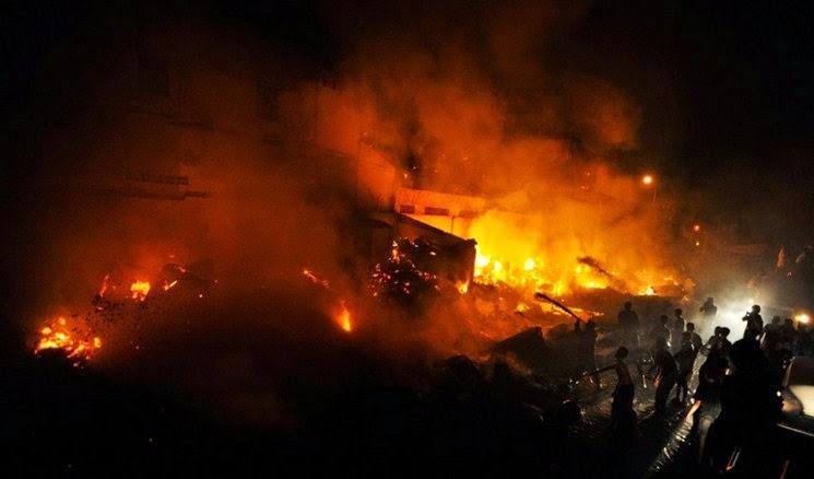 kebakaran Pasar Pandansari Margasari Balikpapan  Kalimantan