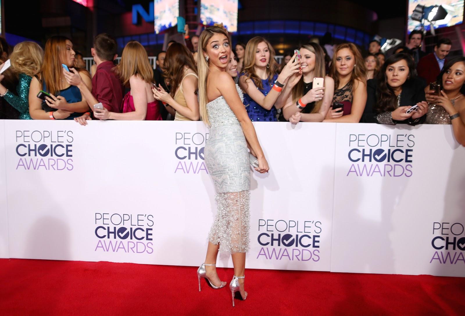الممثلة الأمريكية سارة هايلاند خلال حفل توزيع جوائز Annual People's Choice Awards