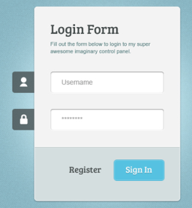 Template Website Login Admin
