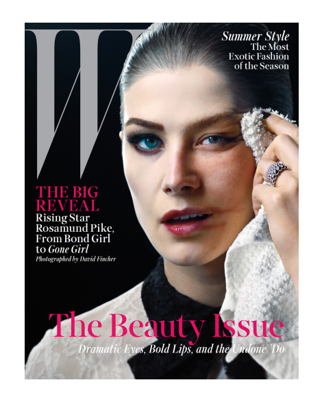 Rosamund Pike by David Fincher for W Magazine