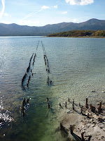 Remains of what looks to be a jetty at Osorezan (Near red bridge and Sanzu river)