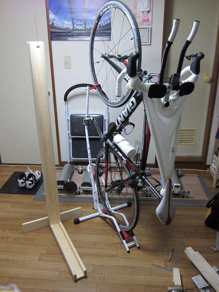 自転車 スタンド 縦置き 自作