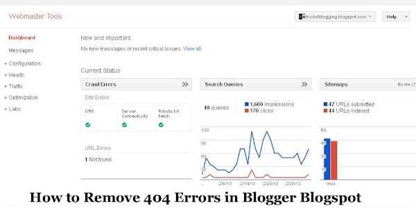 How to Remove 404 Errors in Blogger Blogspot