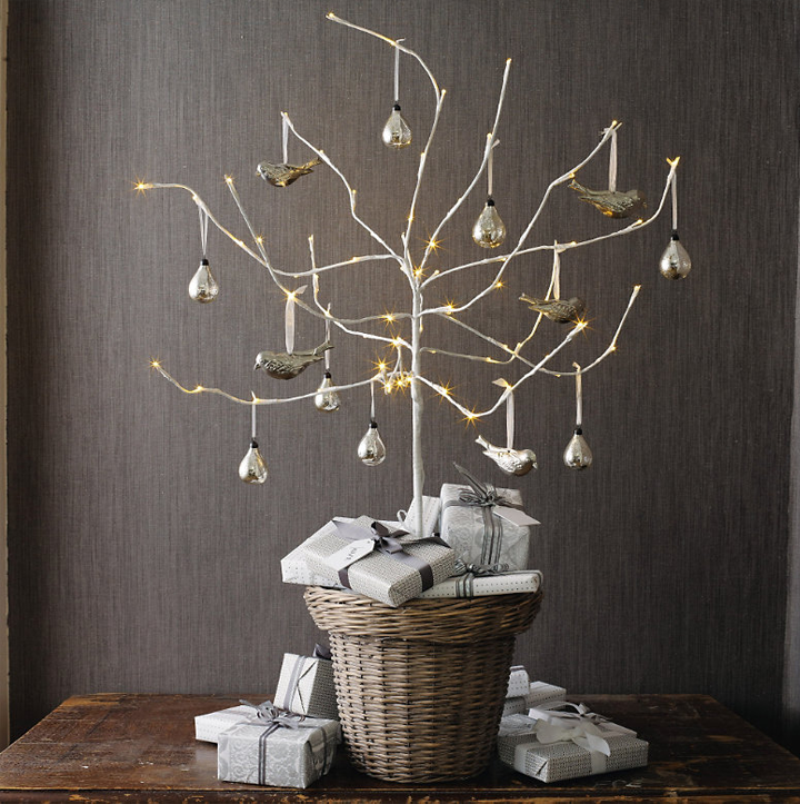 Christmas Decorations With Tree Branches: FleaChic: Flea Market Savvy: Alternative Christmas Decorations