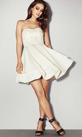 ropa para vestir de noche H&M vestido blanco corto