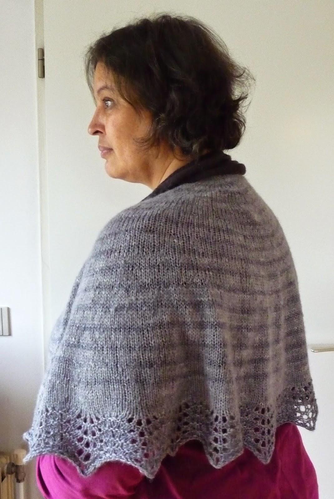 how to wear an alpaca shawl