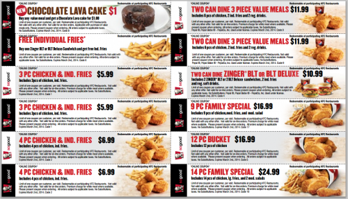 kfc coupons 2015 sydney - photo#9