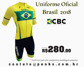 Uniforme Oficial Do Brasil 2018 Ciclismo de Estrada e Mountain Bike   R$ 280,00 em até 10x