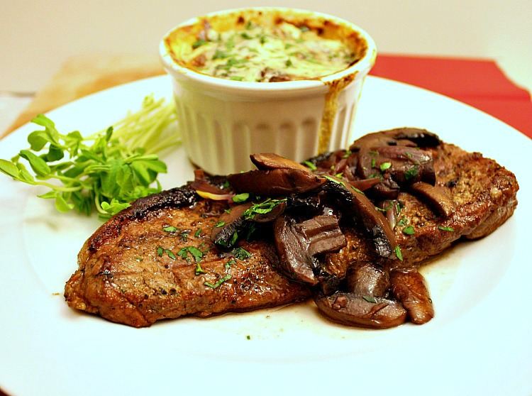 Vanilla Clouds and Lemon Drops: Steak with Red Wine, Mushroom ...