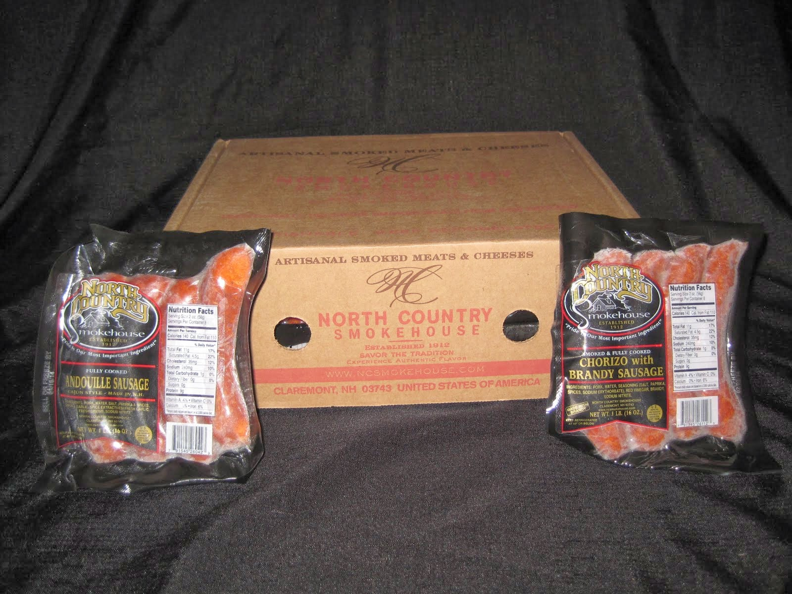 Andouille & Chorizo Sausage 10/1 lb - Item # 15980 & 15981 split - 15990 & 15991 split