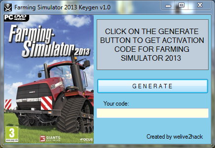 Farming Simulator 2013 Keygen v1.0 Activation Code