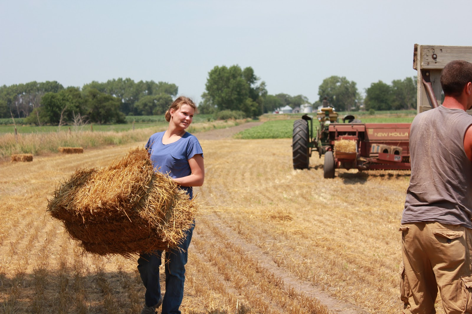 Three Girls And A Guy: Square Bales
