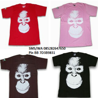 Jual T-Shirt Orang Utan Face Adult