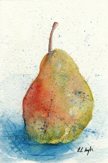 watercolor pear