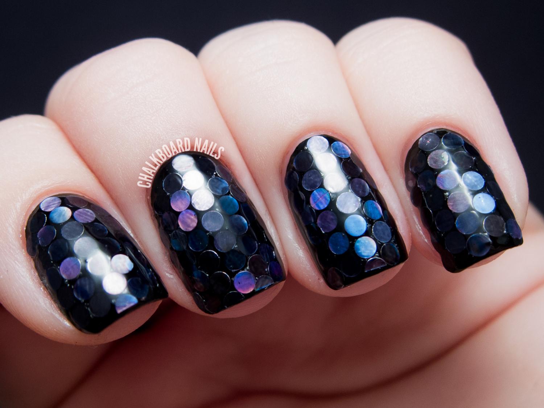 31DC2013 Day 17: Midnight Mermaid Glitter Placement | Chalkboard ...