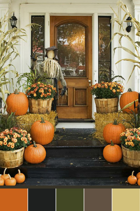 Fall Decorations Ideas Custom Of Fall Front Porch Ideas Image