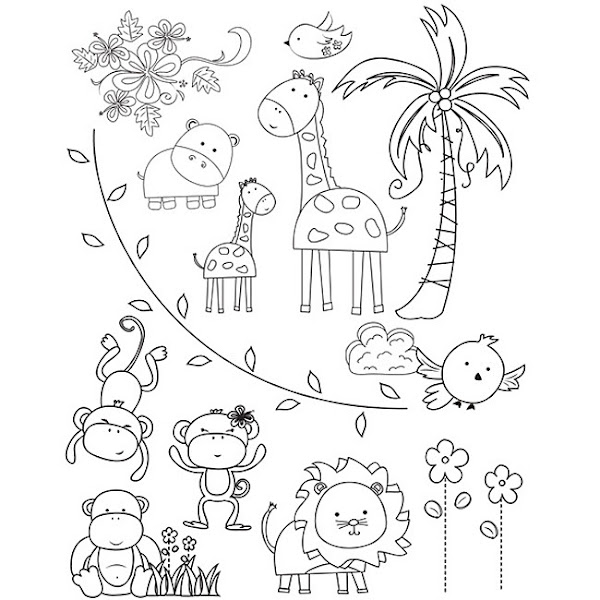 Lion Zoo Animals Coloring Pages