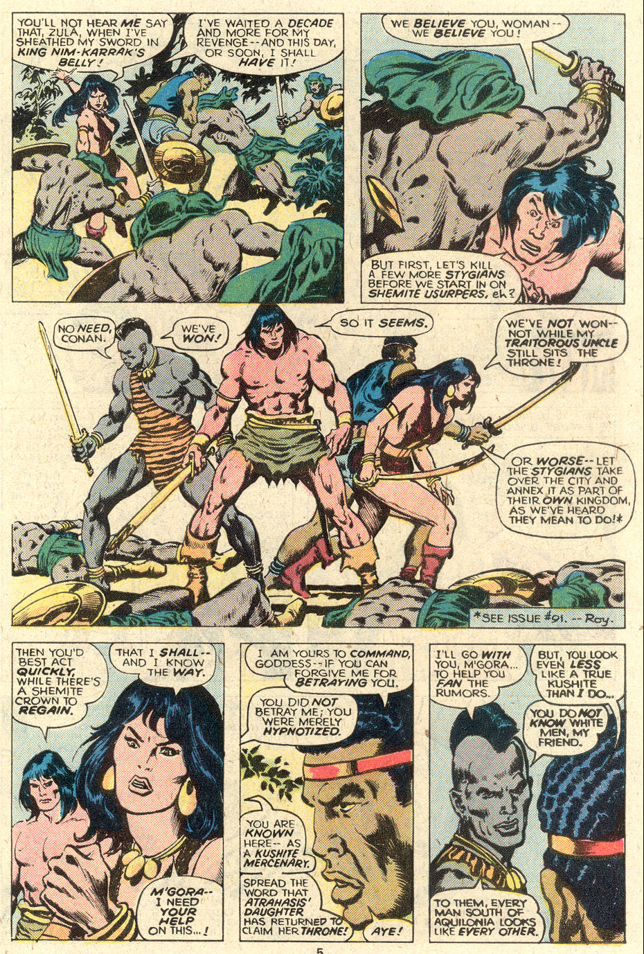 Conan the Barbarian (1970) Issue #93 #105 - English 5