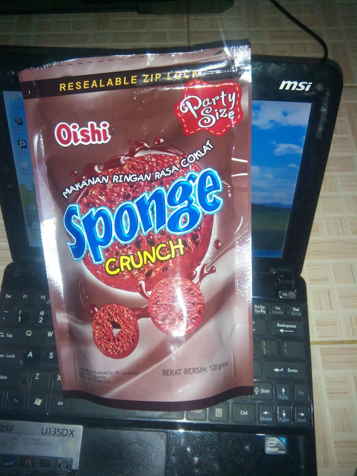 Review Oishi Sponge Crunch Coklat