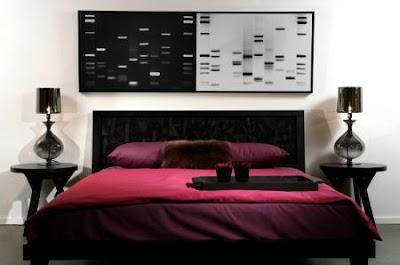 dormitorio rojo y negro