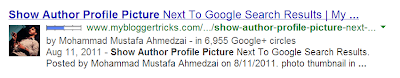 Show Author Profile Picture in Search Results