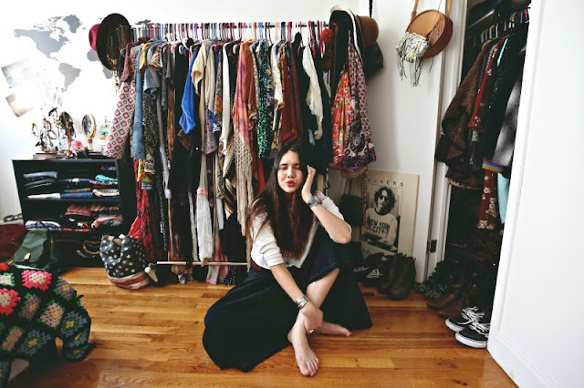 Dylana Suarez's closet is multiplying! I love that it literally has grown outside of the original closet.