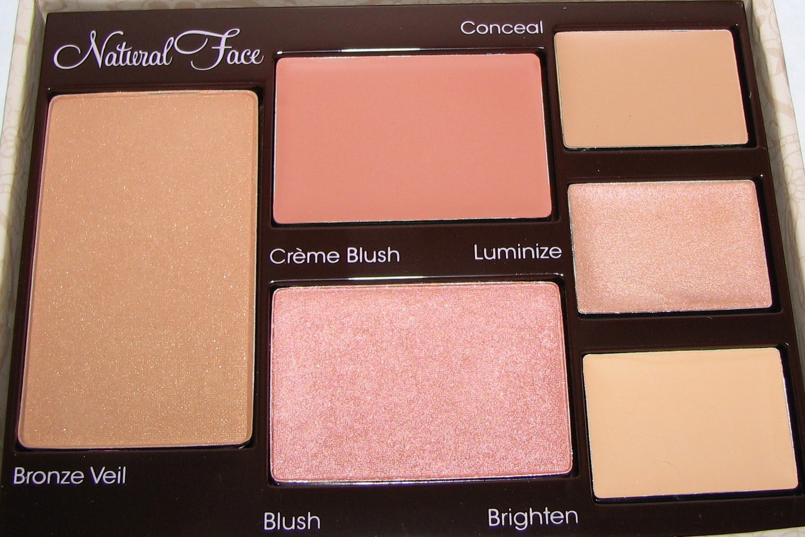 too faced natural face palette swatches and review. Black Bedroom Furniture Sets. Home Design Ideas