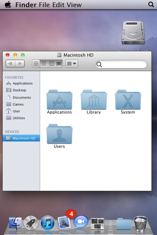 OS X Lion Folders on iPhone