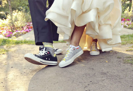 Just Bee Fashion: a Bride and her Sneakers