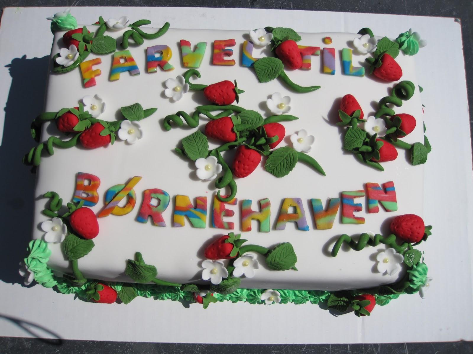 fødselsdagskage til børnehaven