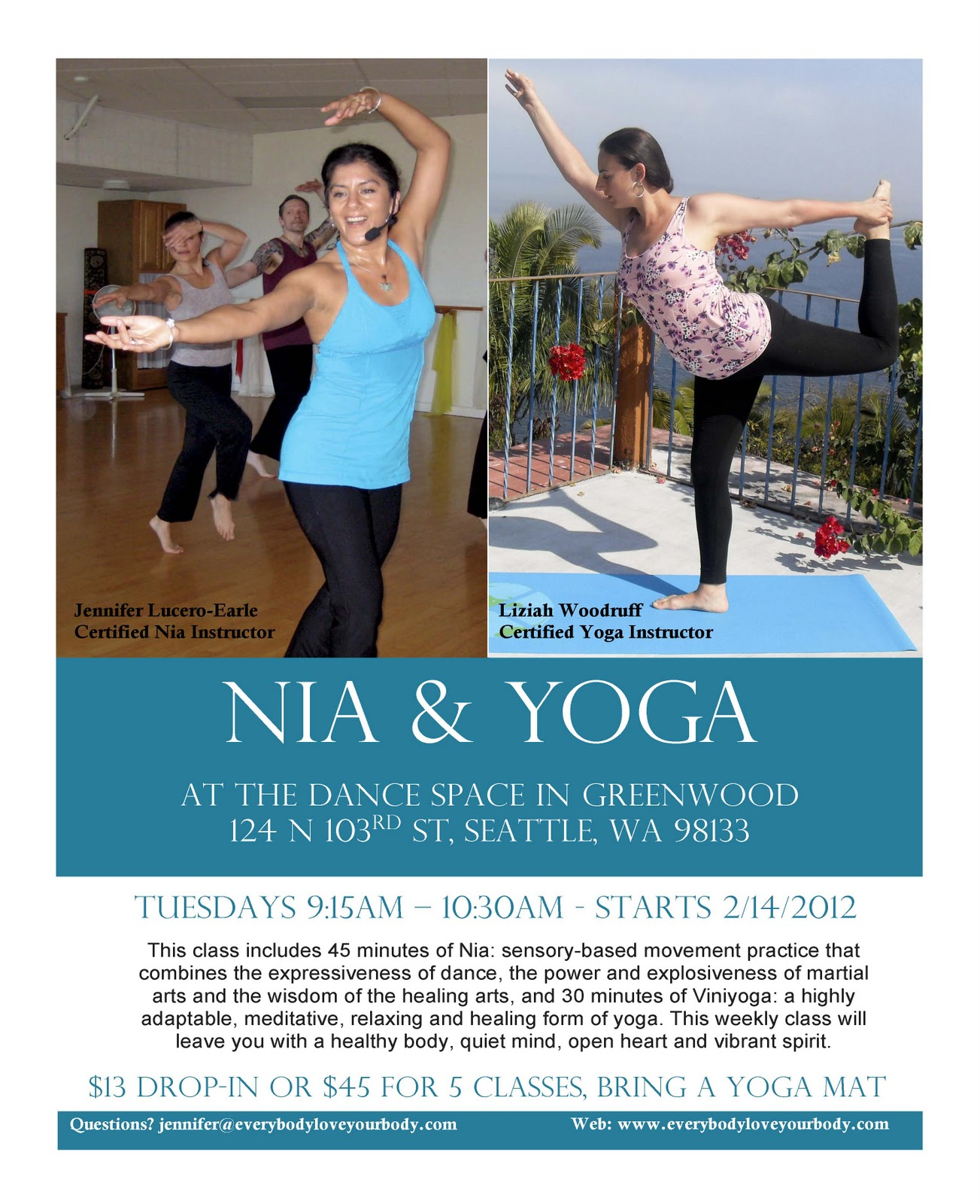 Everybody, Love Your Body: New Nia-Yoga Class Starts