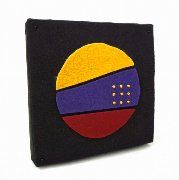 felt embroidered fabric panel lisa fulmer