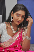 Actress Nisha Latest Photos in Pink saree-thumbnail-5