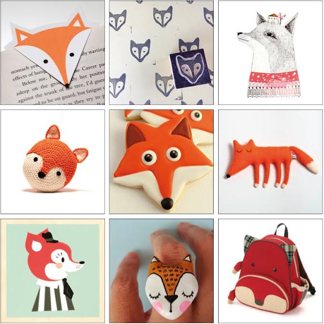 Selección de objetos inspirados en zorros