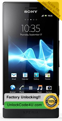 Factory Unlock Code for Sony Xperia P