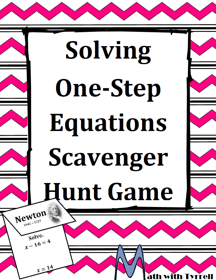 https://www.teacherspayteachers.com/Product/Solving-One-Step-Equations-Scavenger-Hunt-Game-532158