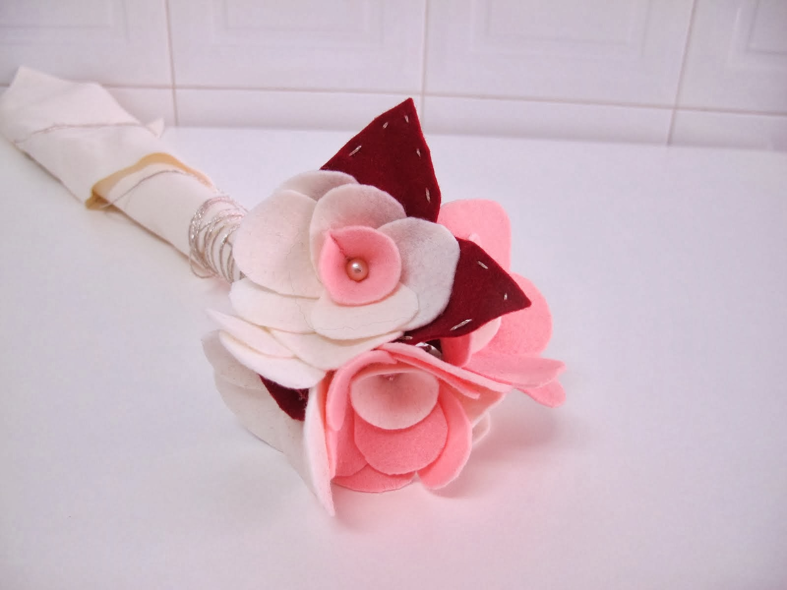 Bouquet Noiva feltro- amostra