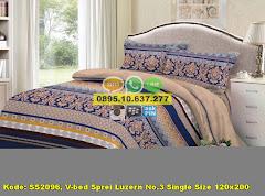 Harga V-bed Sprei Luzern No.3 Single Size 120×200 Jual
