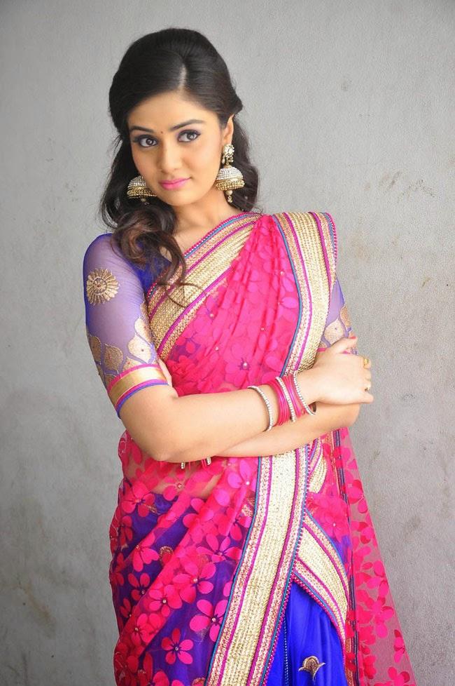 Srimukhi Actress Beautiful Stills Saree Photos - Bolly Actress ...
