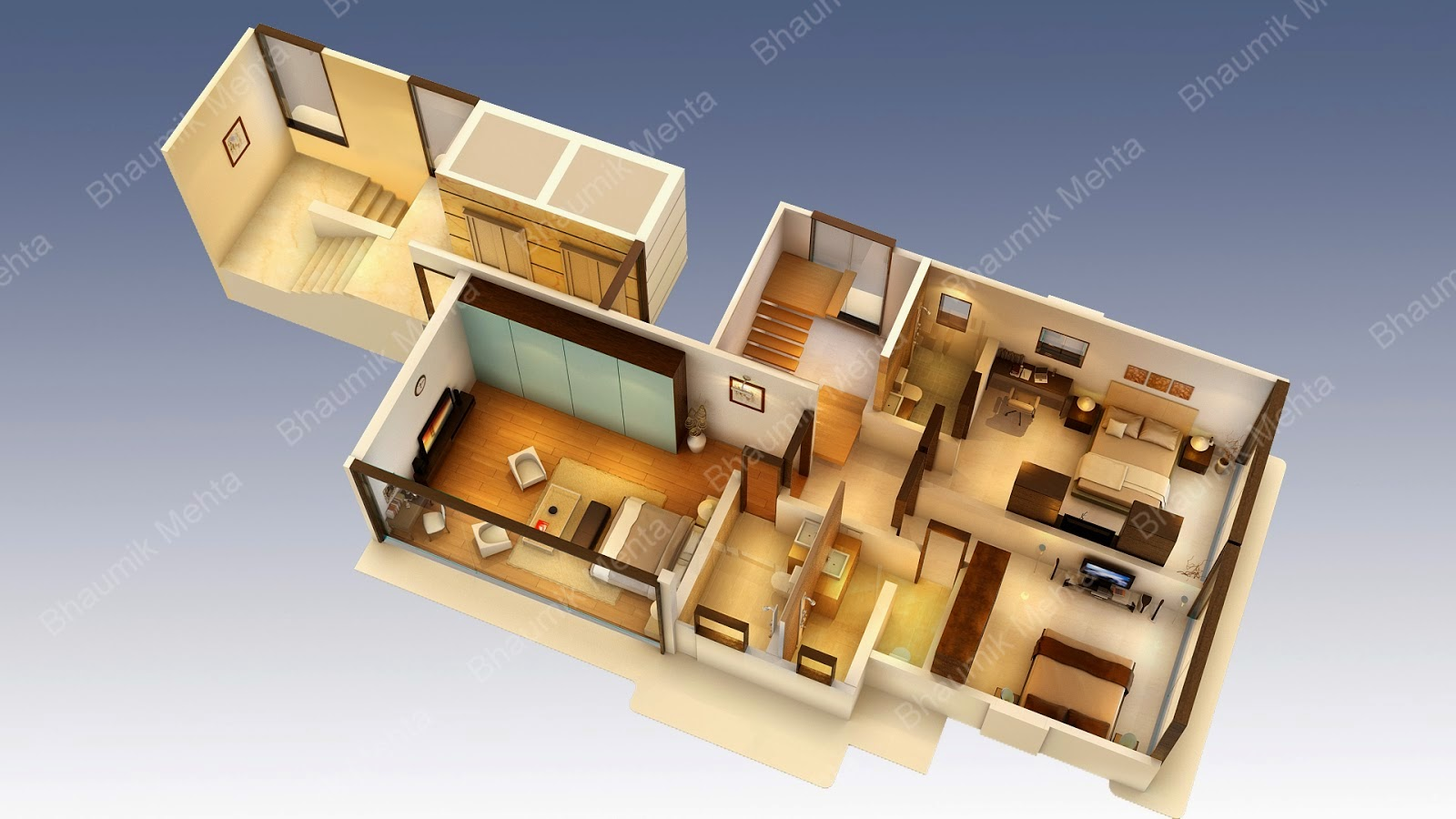 Engineering et architecture plan de maison en 3d for Plans maison 3d